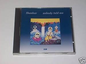 CD - SHANKAR - NOBODY TOLD ME - Ecm 1989