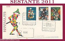 ITALIA FDC RODIA  1974  GIORNATA FRANCOBOLLO ANNULLO SPECIALE ROMA G581