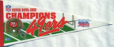 "San Francisco 49er's SBXXIII Champions Collectors Pennant 12"" x 30"""