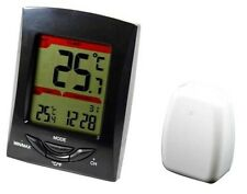 Wireless Thermometer clock with outdoor temperature