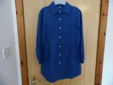 Women's/Ladies Shirt,Unbranded,Size L,Blue,Buttons,Collar,Pockets,Cropped,Used