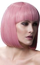 mujer rosa pastel calidad profesional corta con / flequillo Grueso