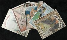 AFFICHE 9 COUVERTURES ORIGINALES DE LA REVUE ILLUSTRATIONS DE 1892 A 1900