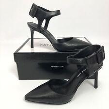 Nine West Womens Elisabeti Pumps Black Leather 7M