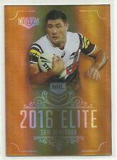 2016 NRL Elite PENRITH PANTHERS SAM McKENDRY parallel GOLD card SG127