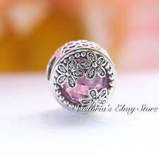Authentic Pandora Dazzling Daisy Meadow, Pink & Clear CZ Charm 792055PCZ