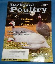 June/July 2008 Backyard Poultry Guineas Home Made Whizbang Plucker Coop Plans