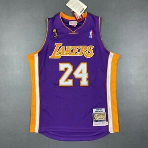 100% Authentic Kobe Bryant Mitchell Ness 08 09 Lakers Finals Jersey Size L 44