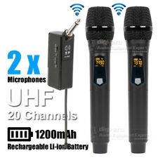 Wireless 2 x Microphone System For Megaphone Audio Mixer Voice Amplifier Speaker