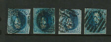 Belgium Scott # 11 Used, (7) Examples With Different Numeral Cancels
