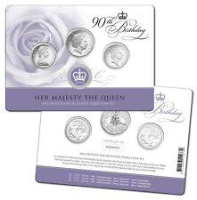 2016 Royal Australian Mint Queen Elizabeth II 90th Birthday 3 Coin Set