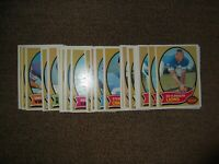 1970 TOPPS FOOTBALL PARTIAL COMPLETE SET LOT, 30-Diff. w/STARS, ROOKIES, EX-MT