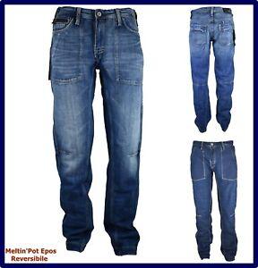 jeans meltin pot da uomo epos denim larghi hip hop rap a gamba larga w30 w31 w32