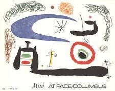 1000 Miro 1976 Dormir sous la Lune (with text) Postcards
