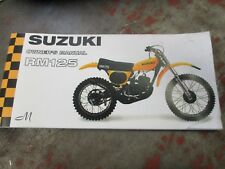 New Suzuki RM125  owners manual  1975  rm125m