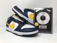 newest 47520 ddb8e Damon Dash ShoeZeum Nike Dunk Mid 2004 White Varsity Maize 304714 172 Sz 10