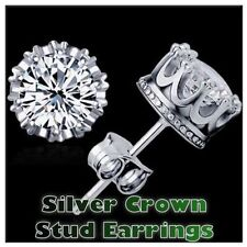Cubic Zirconia Screw Back (pierced) Round Costume Earrings