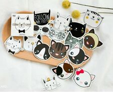 Cartoon cat cute kawaii kitsch box of stickers