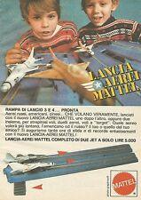 X7532 Lancia aerei Mattel - Pubblicità 1977 - Vintage Advertising