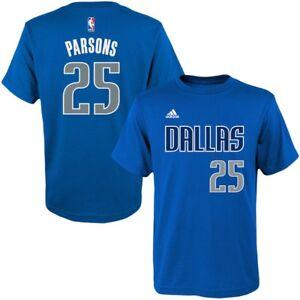 💯% Genuine Chandler Parsons Dallas Mavericks adidas Yth L Game Time NBA t-shirt