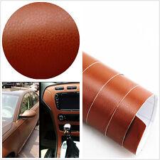 3D brown Leather Texture Sheet Car Auto Interior Trim Vinyl Film Wrap Sticker