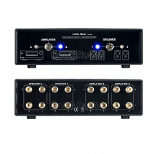 MC202 Audio Crossover Network 2 IN/ 2 OUT Amplifier Speaker Switcher Selector