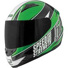 "Speed and Strength ""62 series"" GREEN Black Street Full Face Helmet adult XL"