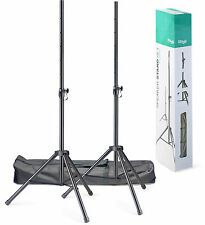 STAGG SPSQ10 Set of 2 Steel Speaker Stands With Carry Bag - Pair - Folding Legs