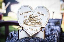 Cuore con piedistallo segnaposto bomboniera nomi data personalizzati matrimonio