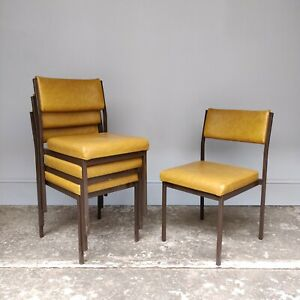 Vintage Mustard Vinyl Stacking Chairs by Remploy - Cafe Bar - 30 Available