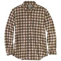 Carhartt 103314C - Rugged Flex Hamilton Plaid Flannel Shirt - Dark Brown 201