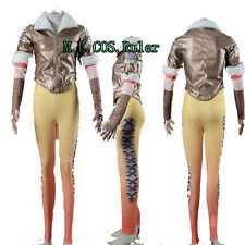 Latest Overwatch Tracer Lena Oxton Nanosuit Jumpsuits Cosplay Costsume Coat