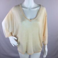 Chaser Collection Womens Top Batwing Burnout Poncho V Neck Peach Size XS