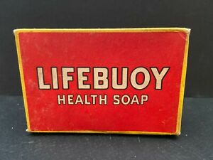 Vintage LIFEBUOY HEALTH Bar Soap In Original RED BOX LEVER BROTHERS