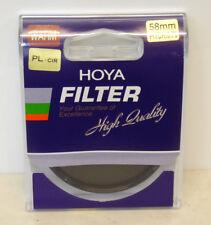 NUOVO Hoya 58mm Caldo Polarizzatore Circolare Polarizzante Filtro-MOOSE Peterson