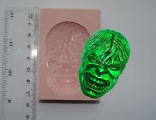 SILICONE MOULD THE INCREDIBLE HULK MARVEL SUPERHERO ICING CAKE CARD TOPPER FIMO