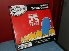 THE SIMPSONS TRIVIA GAME NEW VINTAGE FAN EDITION TV CARTOON BOARD GAME SEALED