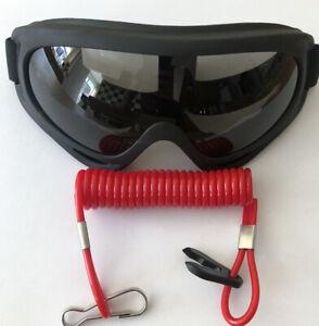 Jet ski goggles High quality UV protected   + Kill Cord ( UK shipping Fast)