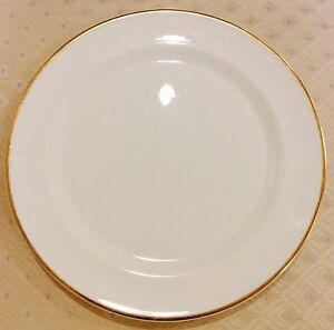 Set 4 Wedgwood England Service, Banquet or Charger Plates Gold & White