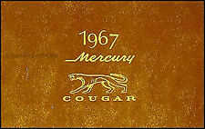 1967 Mercury Cougar and XR7 Owners Manual 67 Owner Guide Book XR 7