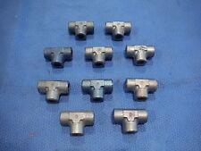 Aluminum T Fittings  Lot of 10  P/N AN917-3D   (615-117)