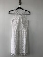 NEW KENSIE Crochet Lace Wedding Prom Cockail Dress White Size XS