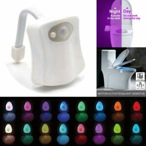 16 Colors  Bathroom LED Toilet Night Light Motion Activated Seat Sensor Lamp au