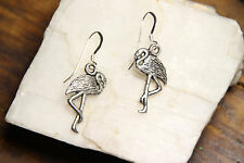 Flamingo Earrings Animal 925 sterling silver hooks pewter charms