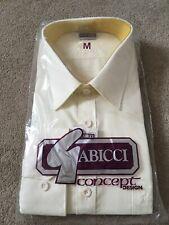 Vintage 1980's Men's Gabicci Cream Yellow Shirt - Size Medium - Brand New