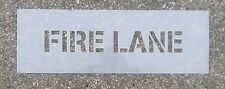 "3"" Fire Lane Stencil Parking lot"