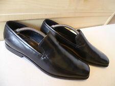 Prada full leather loafer UK 9 43 mens black polished pointed toe slip on