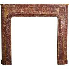 Antique French Art Deco Spanish Brocatelle Marble Fireplace c. 1920