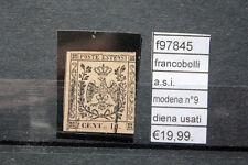 FRANCOBOLLI ASI MODENA N°9 DIENA USED (F97845)