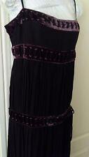 Reiss Ladies  DRESS SIZE 14 BLACK SPAGHETTI STRAP swing